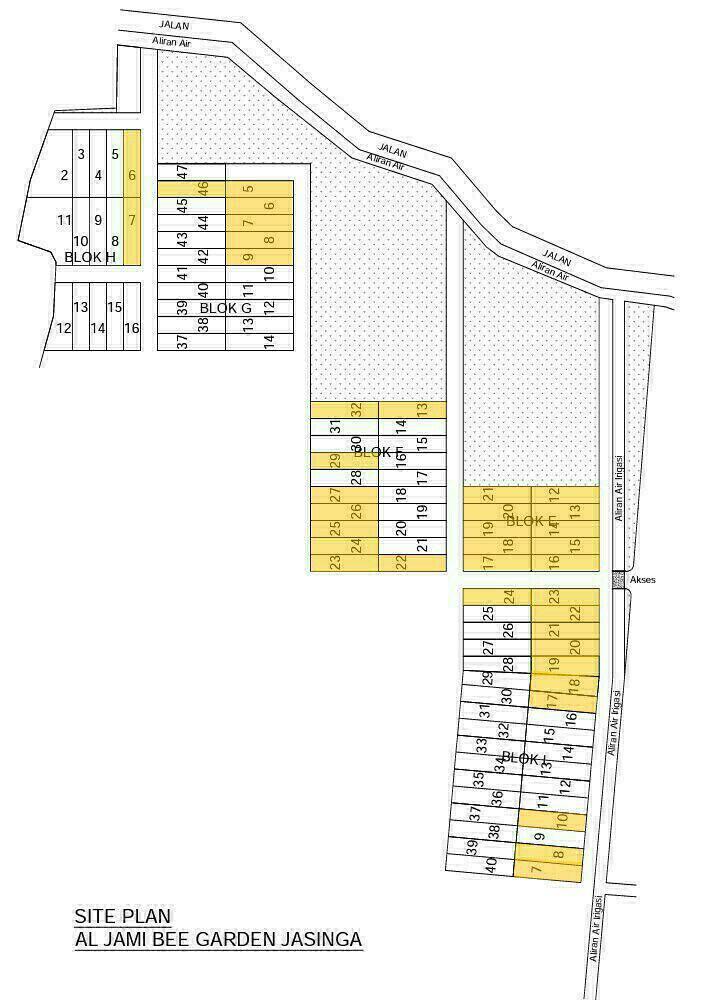 Siteplan Kavling Aljami Bee Garden