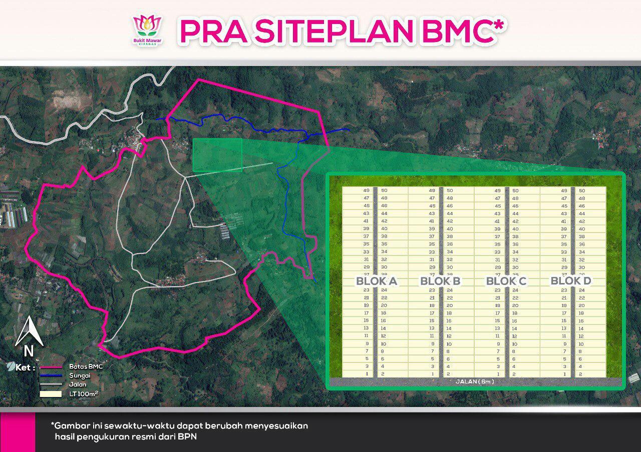 Lokasi dan Siteplan bukit mawar