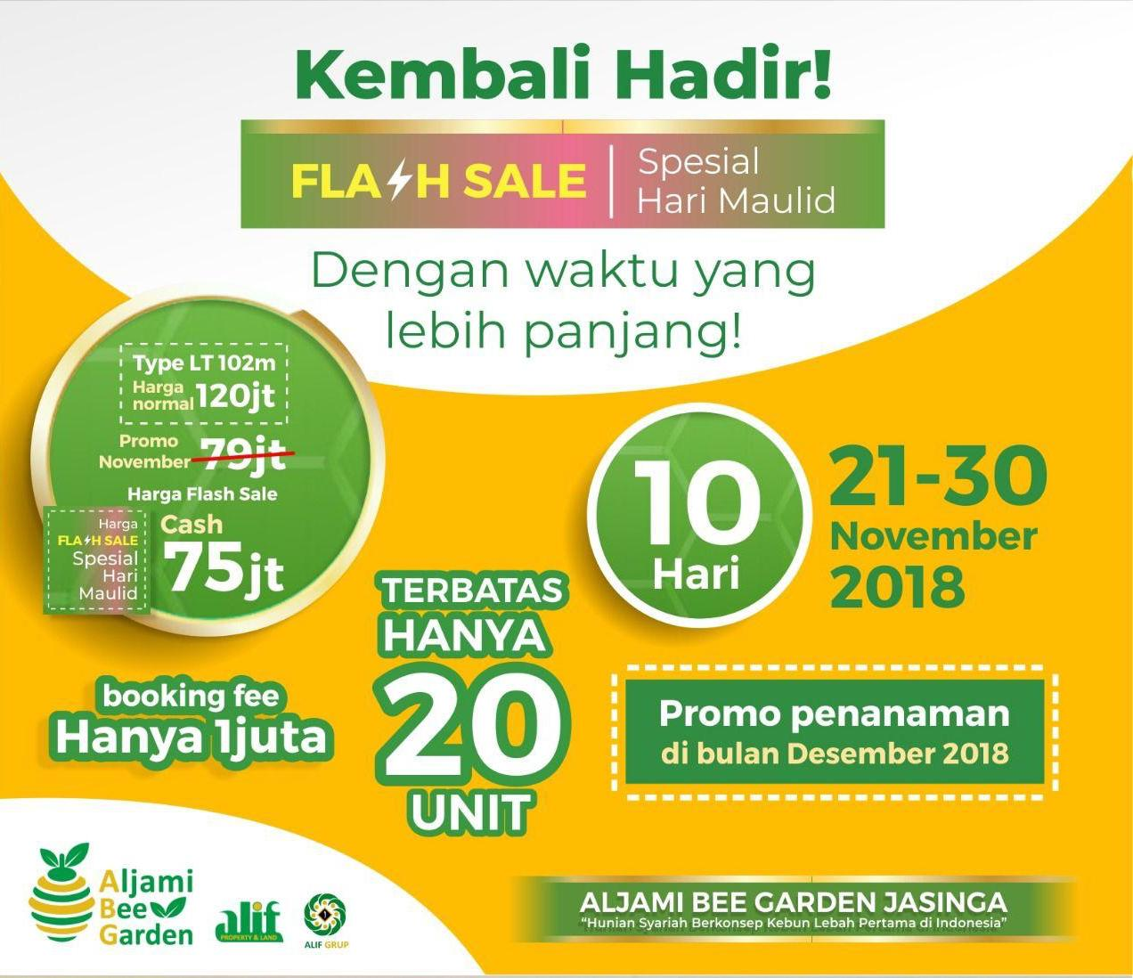 aljami bee garden jasinga flash sale