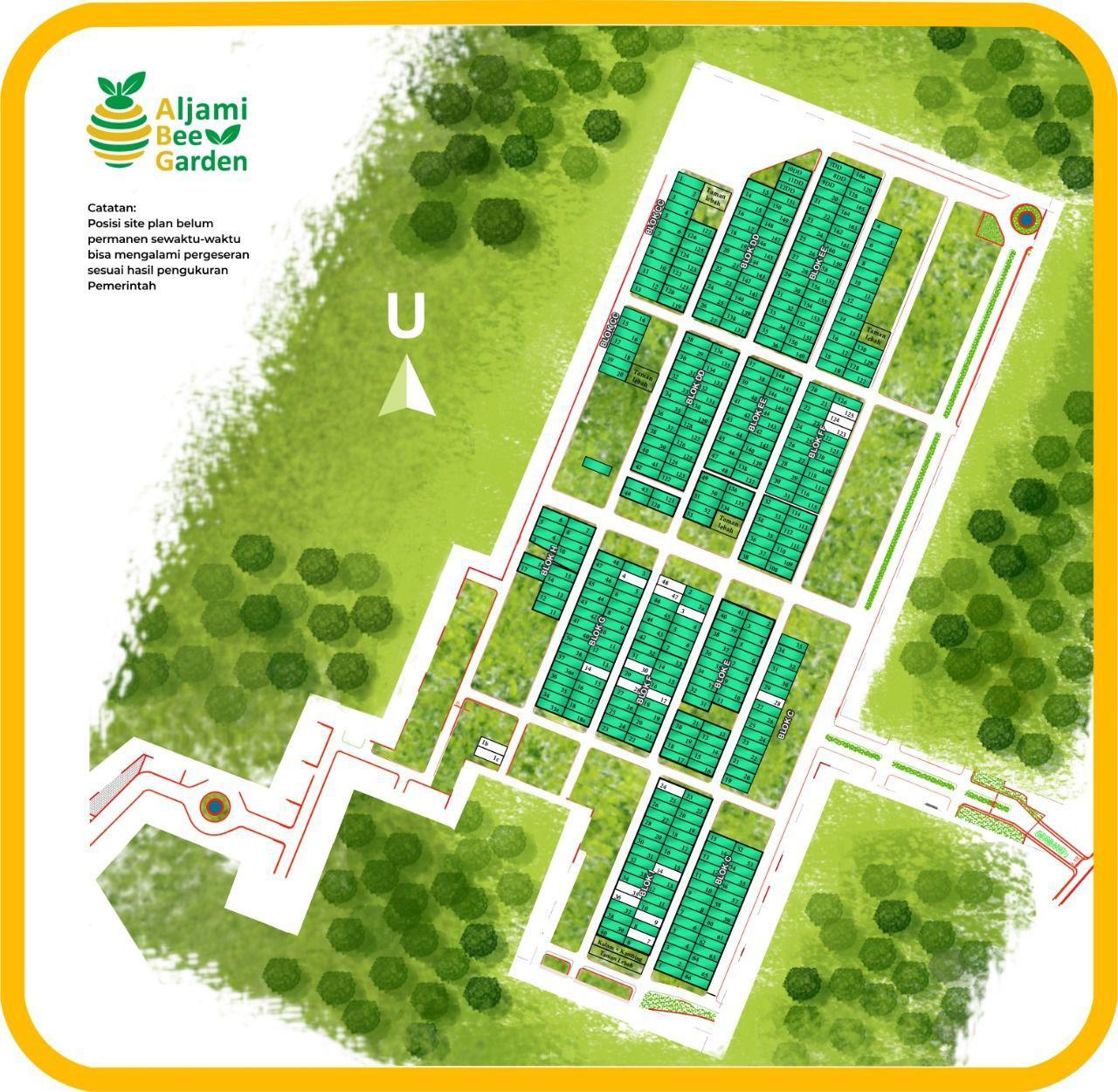 siteplan kavling aljami bee garden jasinga