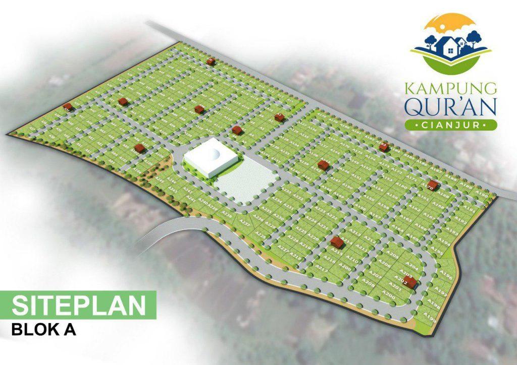 siteplan A kampung quran cianjur