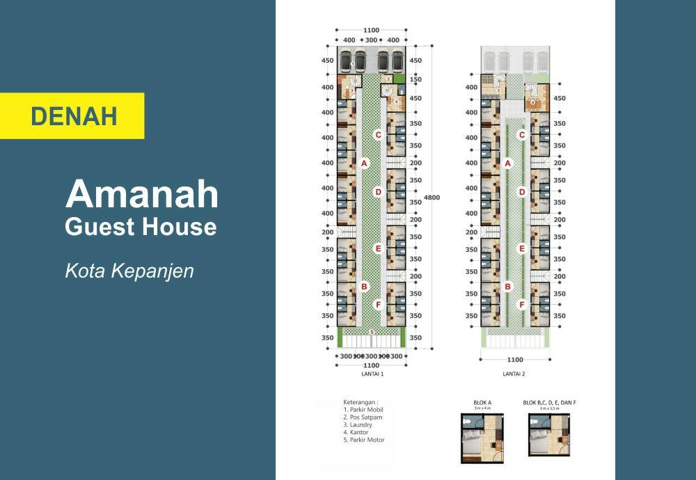 siteplan amanah guesthouse
